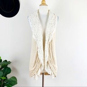 New Anthropologie lace cardigan